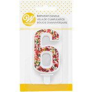 TRENDY BIRTHDAY NUMERAL CANDLE-6