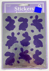 STICKERS BUNNY PURPLE 3 SHEETS