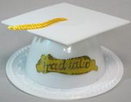 GRADUATION HAT WHITE 4 PK
