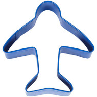COOKIE CUTTER AIRPLANE BLUE 3.5 IN.