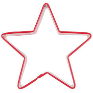 COOKIE CUTTER STAR 3.25  IN. RED