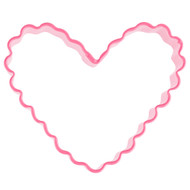 COOKIE CUTTER CRINKLE HEART 2 3/16 IN. PINK