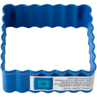 COOKIE CUTTER SQUARE SCALLOPED 2.75 IN. BLUE