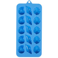 SILICONE CANDY MOLD SEASHELLS 15 CT