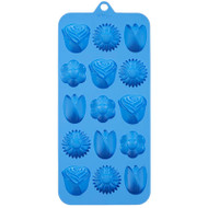 SILICONE CANDY MOLD ROSE / FLOWERS 15 CAVITIES