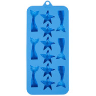 SILICONE CANDY MOLD MERMAID, STAR FISH 12 CAVITY