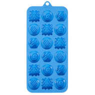 SILICONE CANDY MOLD FANCY TRUFFLES 18 CAVITIES