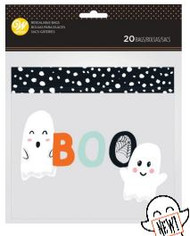 TREAT BAGS RESEALABLE BOO 20 CT
