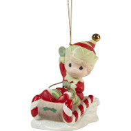 PM211014 CHRISTMAS IS COMING ELF ORN