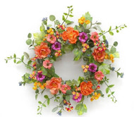 """WREATH  MIXED FLORAL 26"""""""