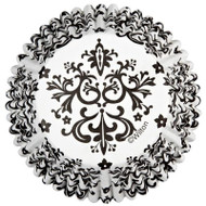 BAKING CUPS DAMASK BLK/WHT 36 CT
