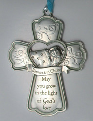 """CRIB CROSS """"MAY YOU GROW IN THE LIGHT"""" 3.75 IN."""