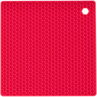 SILICONE TRIVET RED
