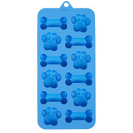 MOLD SILICONE DOG PAWS AND BONES 12  CAVITIES