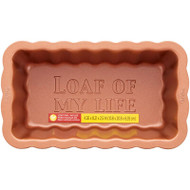 """LOAF PAN SCALLOPED """"LOAF OF MY LIFE"""" 8 IN."""