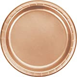 """PLATE 7"""" ROSE GOLD 8 CT"""
