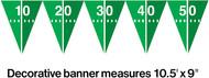 BANNER FOOTBALL FLAGS 9 FT.