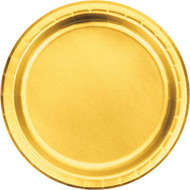 PLATES 9X12  FOIL GOLD 8 CT