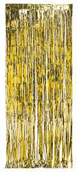 DOOR CURTAIN FRINGE  GOLD 3 x 8 FT. MYLAR