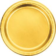 """PLATES 7""""x8 FOIL GOLD"""