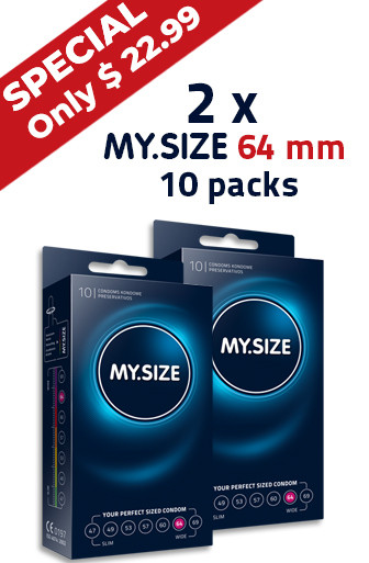 Special -  2 x MY.SIZE 64 mm condom 10 pack