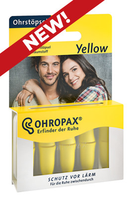 NEW! OHROPAX Yellow foam earplugs