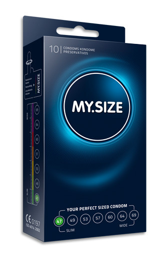 MY.SIZE 47 mm condom (10 pack)