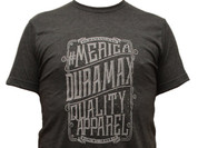 DuramaxGear | Heathered Gray Shirt | Soft White Vintage Tag #merica | 200994