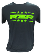 RZRGear | Black Shirt | Stars and Bars Neon Green  RZR | T0007