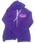 DuramaxGear | Ladies' Purple Hoodie | Pink and White Duramax | T0011