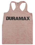 DuramaxGear | Ladies' Pink Burnout Racerback Tank | Black Duramax | T0012