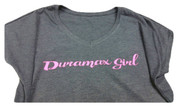 DuramaxGear | Ladies' Gray Shirt | Hot Pin Duramax Girl | T0014