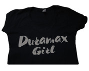 DuramaxGear | Ladies' Black Shirt |  White Duramax Girl | T0015
