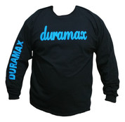 DuramaxGear | Black Long Sleeve Shirt | Blue Script Duramax | T0029