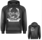 DuramaxGear | Black Hoodie | White Duramax Engine and Skulls | T0031
