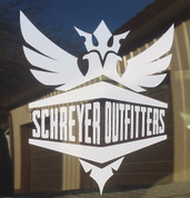 Schreyer Outfitters | Vinyl Decal | 5.4in High x 5in Wide Logo |  T0032