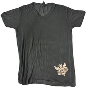 Schreyer Outfitters | Ladies' Oasis Wash V-Neck | Khaki Schreyer Outfitters Logo | T0036