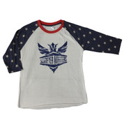 Schreyer Outfitters | Ladies' Stars Baseball Tee | Navy Schreyer Outfitters Logo | T0040