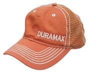 DuramaxGear | Orange Contrast Stitch Fitted Hat | Duramax | T0044