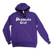 DuramaxGear | Purple Concert Hoodie | White Script Duramax Girl | T0046