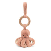 Odell Octopus Wooden Ring Stroller Toy