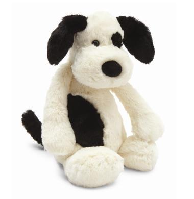 Jellycat Bashful Black & Cream Puppy stuffed animal