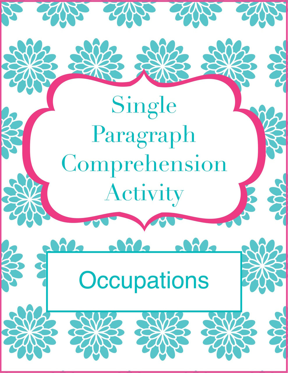 - Single Paragraph Comprehension (Occupation-Themed) - CALM Speech