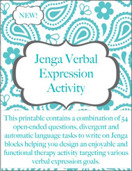 Verbal Expression Activity for Jenga Blocks