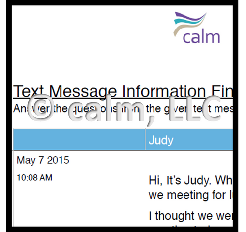Text message information finding and problem-solving 2