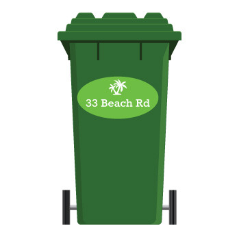 Designer Wheelie Bin Labels are a stylish way to label your wheelie bins with your address so they don't go wandering off!