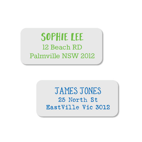 Style your own beautiful designer address labels