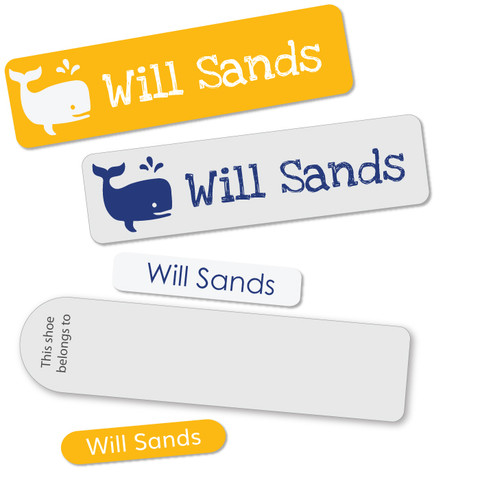 Our Super Saver packs contains coloured and clear stick on labels in different sizes plus iron ons.