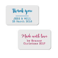 Style your Made with Love or Thank You labels with our designer fonts