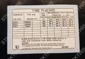 Tyre Placard - Holden VB VC VH 6Cyl Sedan Steel Wheels Decal 92013669 VJ